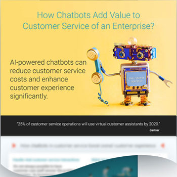 How chatbots add value to enterprise - Infographcis